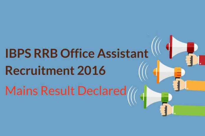 IBPS RRB Assistant Mains Result