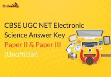 CBSE UGC NET Electronic Science Answer Key: Paper II & Paper III (Unofficial)