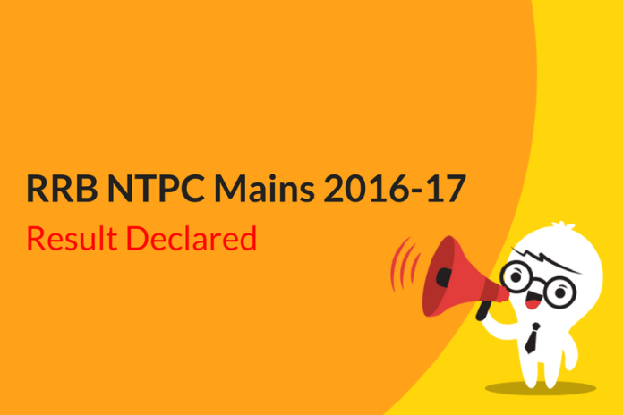 RRB NTPC Mains Result 2016: Phase II Zone Wise Scorecards