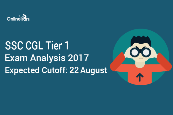 SSC CGL Tier 1 Exam Analysis 2017, Expected Cutoff: 22 August