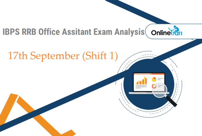 IBPS RRB Assistant Prelims Exam Analysis, 17th September Shift 1