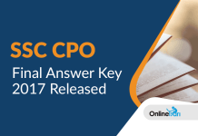 SSC CPO Final Answer Key (Official) Released: Check Now