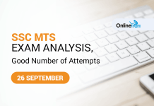 SSC MTS Exam Analysis, Good Number of Attempts: 26 September