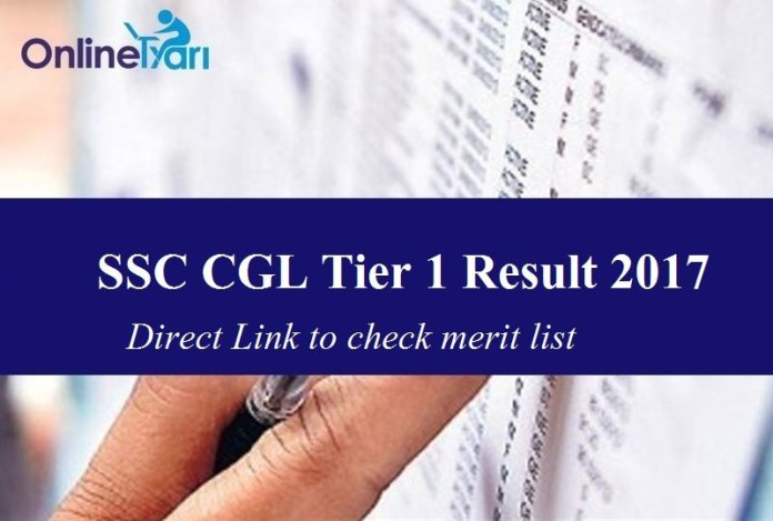 SSC CGL Tier 1 Result 2017: Direct Link to check merit list