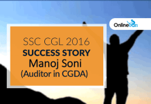 SSC CGL 2016 Success Story: Manoj Soni (Auditor in CGDA)
