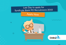 Reminder: Last Day to Apply for Syndicate Bank PO Recruitment 2018