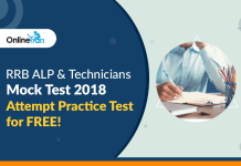 RRB ALP & Technicians Mock Test 2018: Attempt Practice Test for FREE!