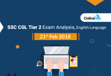 SSC CGL Tier 2 Exam Analysis, English Language: 21st Feb 2018