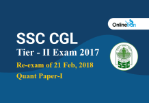 SSC CGL Tier 2 Quant Re-examination Notice 2017: Check Here