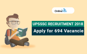 Apply for UPSSSC Recruitment 2018: 694 Vacancies