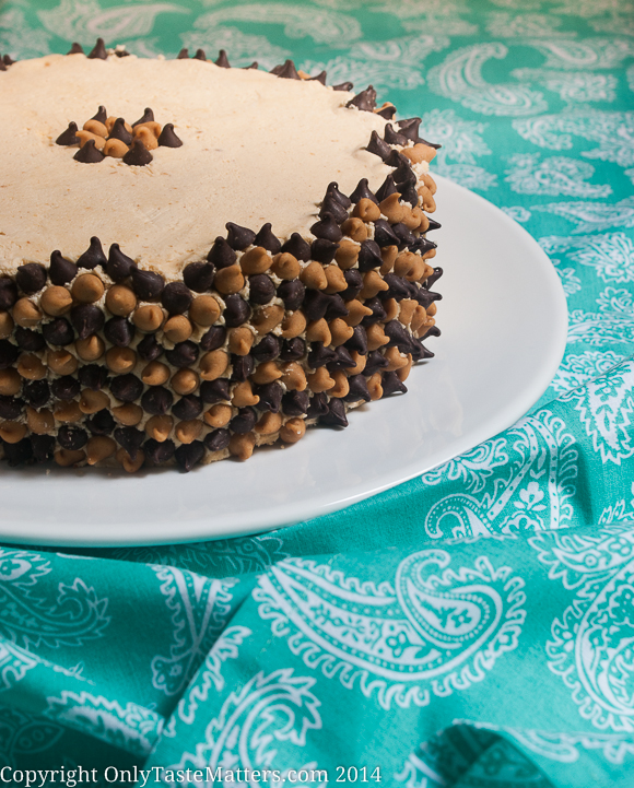 #Banana #ChocolateChip Cake with #PeanutButter Frosting. #GlutenFreeBaking #ontheblog