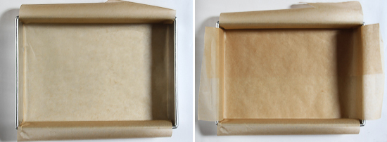 How to line a brownie pan with parchement paper #baking101