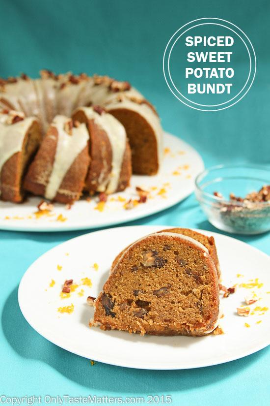 Spiced Sweet Potato Bundt Cake with Orange Glaze #GlutenFree