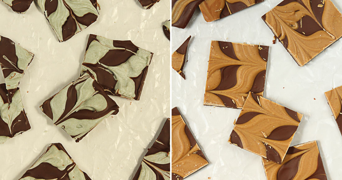 Make 2 Ingredient Holiday Bark for a quick and easy hostess gift!