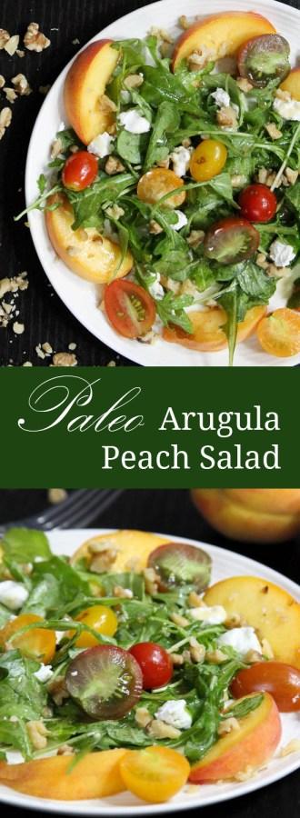 Paleo Arugula Peach Salad | Only Taste Matters