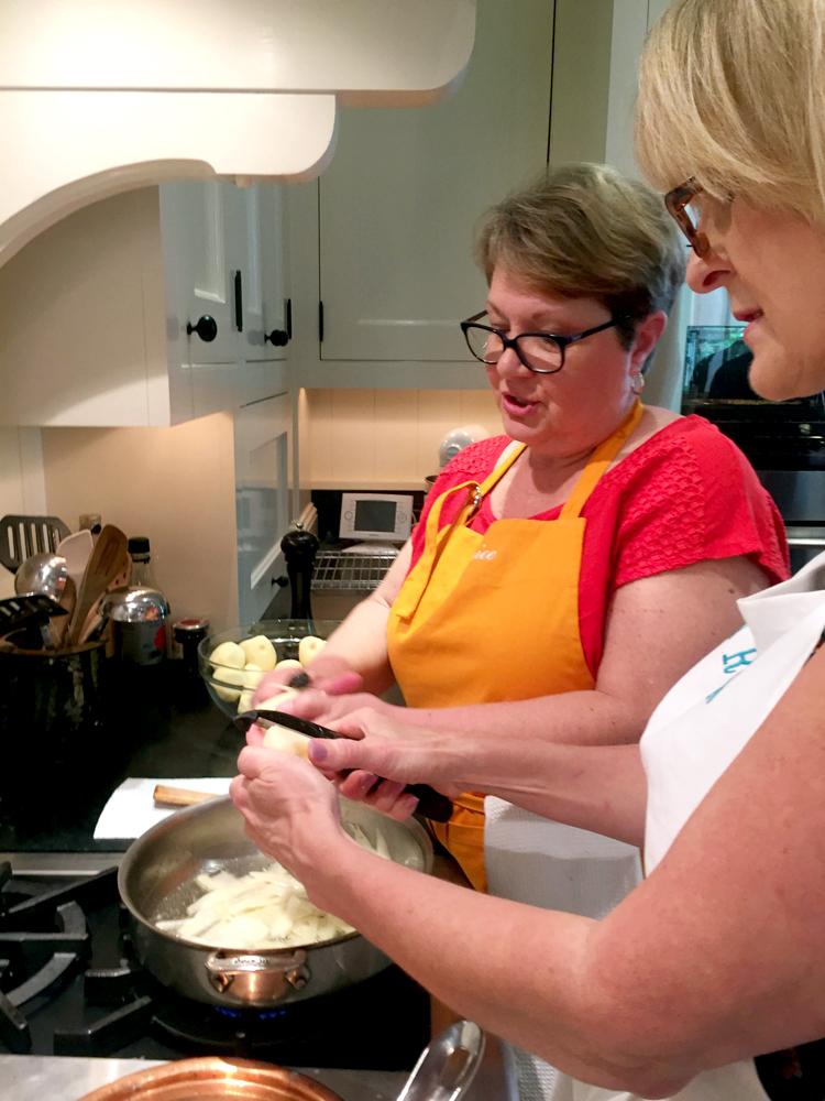 Making potato galette
