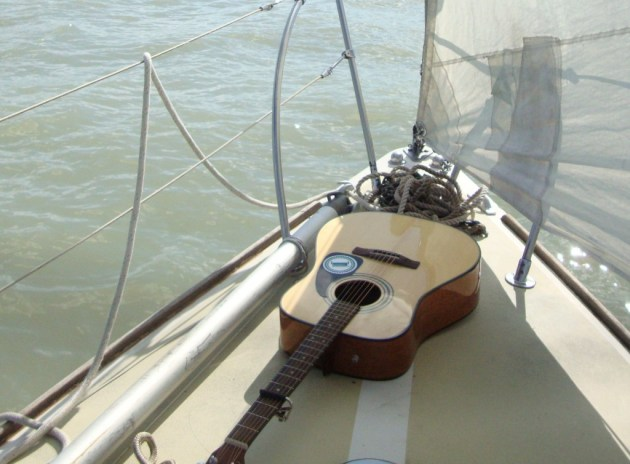 guitar on bow