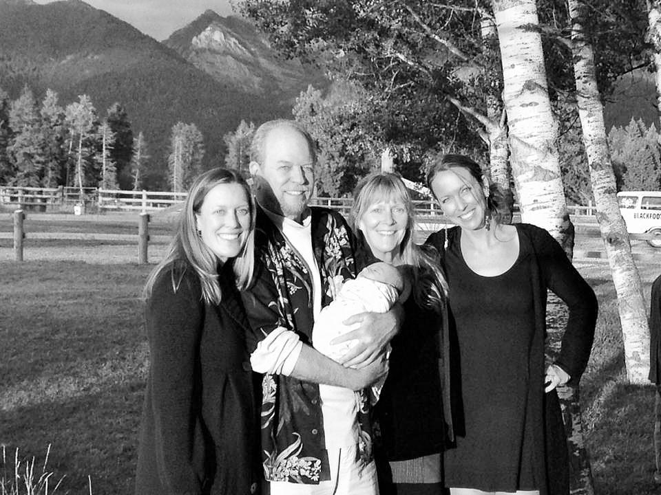 Randall family summer 2014 black and white