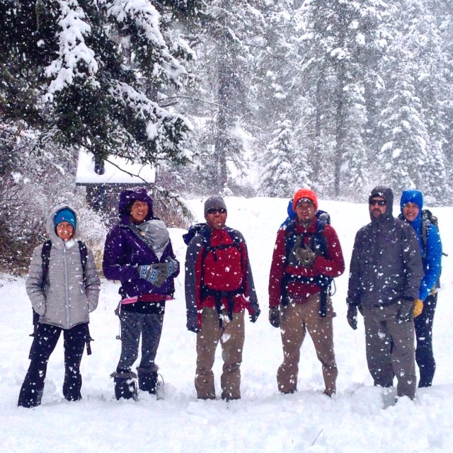 The Thanksgiving week crew exploring the Wallowas in Oregon.