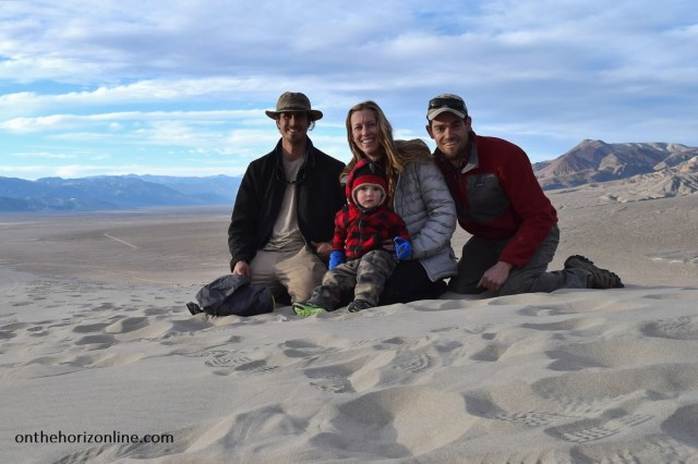 The view from the top of the Eureka sand dunes.