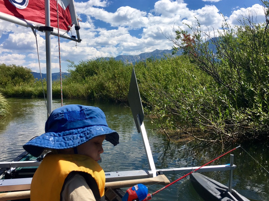 sailing upriver in search of yellowstone cutthroat trout