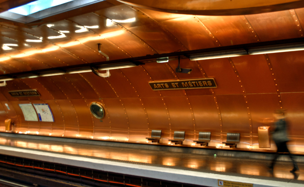 Arts et Metiers Paris Metro platform
