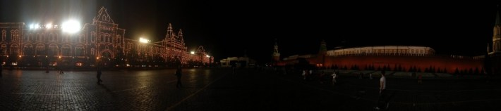 on the road to moscow - russia- red square by night