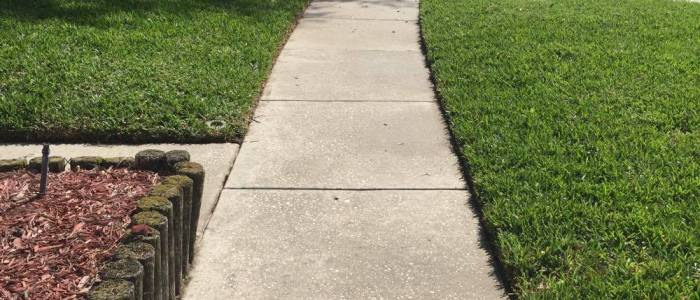 Sidewalk pressure washing Apollo Beach FL
