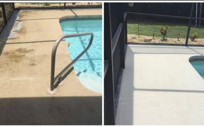 Pool Deck Restoration with a color change Apollo Beach Fl