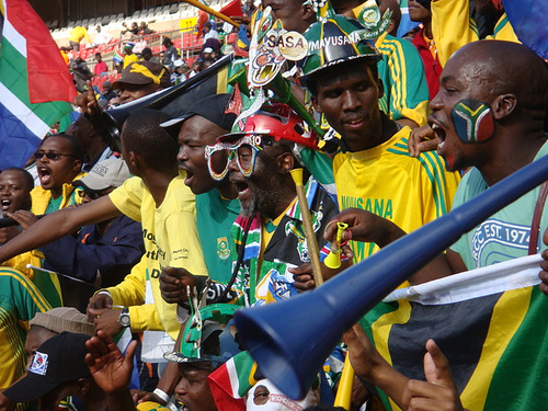 South African fans welcome the World Cup with great anticipation.