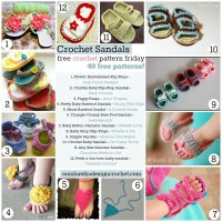 40 Free Crochet Sandal Patterns