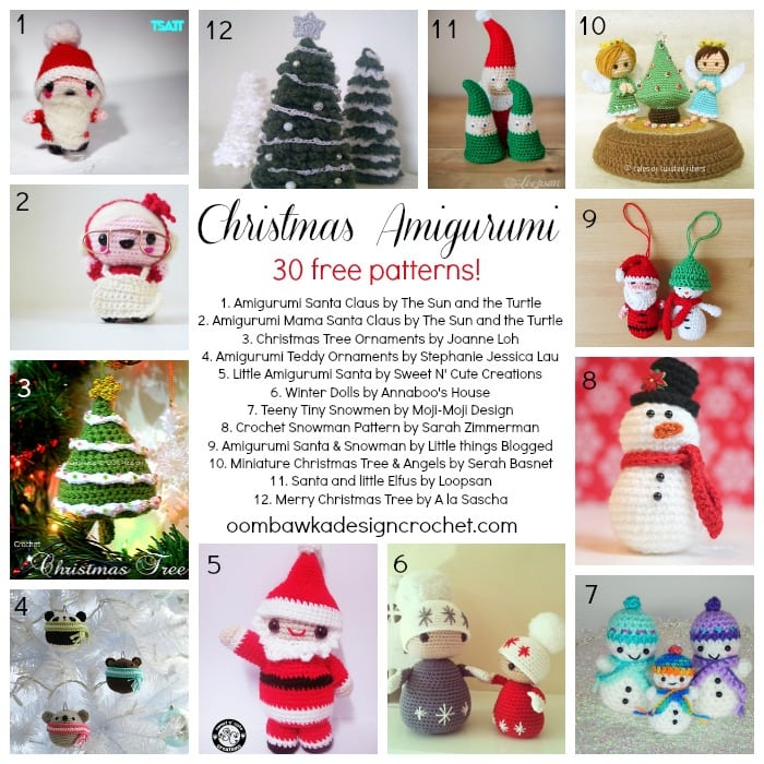 All Free Amigurumi Patterns : 30 Free Christmas Amigurumi Patterns! Oombawka Design ...