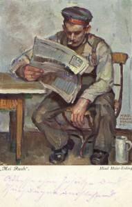 Feldpostkarte Erster Weltkrieg Mei Ruah