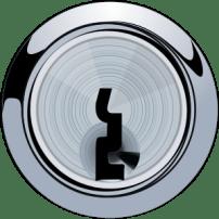 Image: A silver keyhole