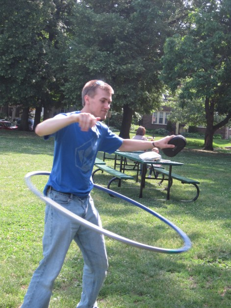 one hula hoop