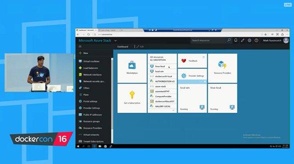 Microsoft Azure Stack Docker support