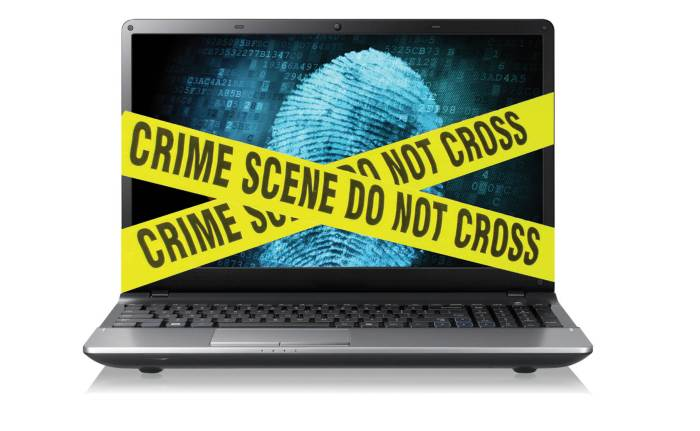 Computer attack crime scene