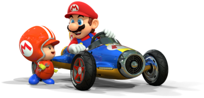 Mario Kart 8 - Mario with Toad Mechanic | oprainfall