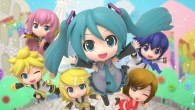 It's Hatsune Miku, but in chibi form and on a Nintendo console.