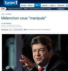 """Mélenchon vous """"manipule"""""""