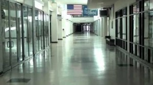 The halls of Amity High School.