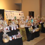 The event committee did a fantastic job getting all of these wonderful baskets for the raffle.