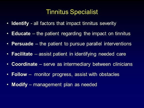 If someone presents with hyperacusis and tinnitus, which do you tackle first 3