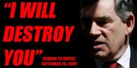 Gordon Brown to Rupert Murdoch