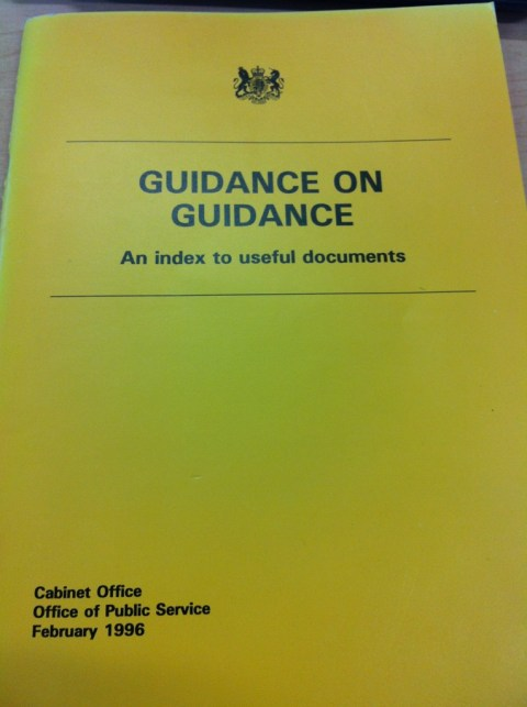 Guidance On Guidance Cabinet Office