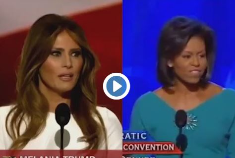 MELANIA BORROWS FROM MICHELLE