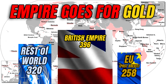 HOW BRITISH EMPIRE BEATS EU FOR OLYMPIC MEDALS