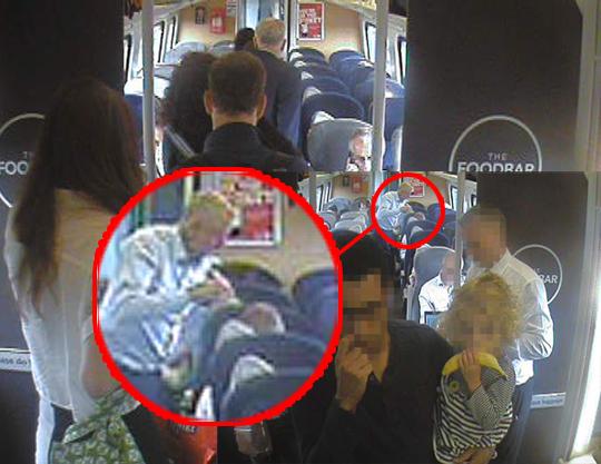 corbyn train staged
