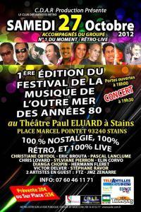 1ère Edition du festival de la Musique de l'Outre-Mer des années 80