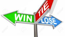 14041809-Three-arrow-road-signs-with-the-words-Win-Lose-and-Tie-to-represent-results-of-a-game-or-competition-Stock-Photo